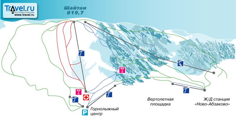 Абзаково горнолыжные трассы